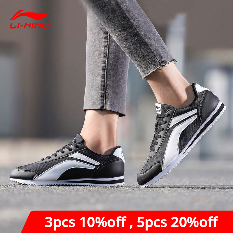 Li-Ning Women 3KM Lifestyle Shoes Breathable Leisure LiNing Li Ning Classic Retro Sport Shoes Fitness Sneakers AGCN286 YXB211