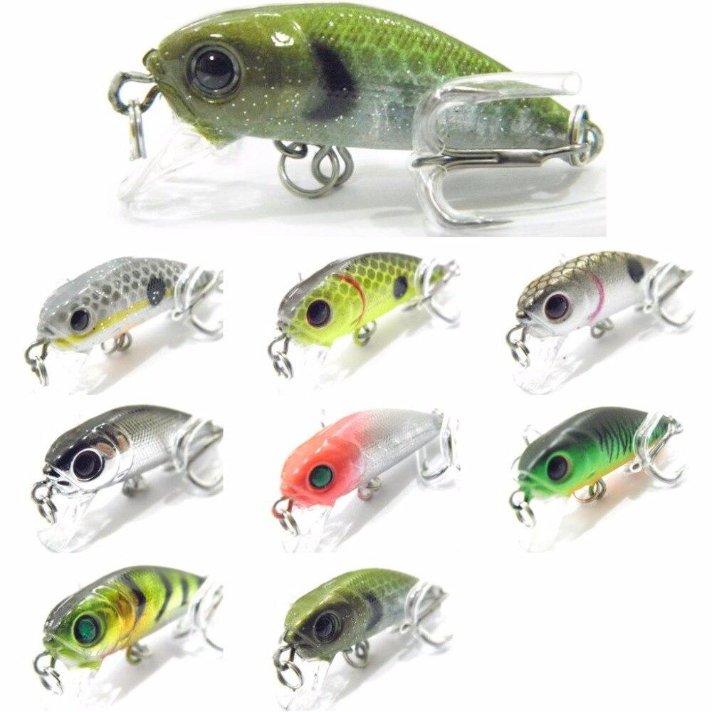 WLure 4cm 2.5g קרפיון דיג פיתוי לטוס דיג טרי מים קשה פיתיון שוקע Jerkbait 8 # ווי חרקים פיתיון Crankbait C617
