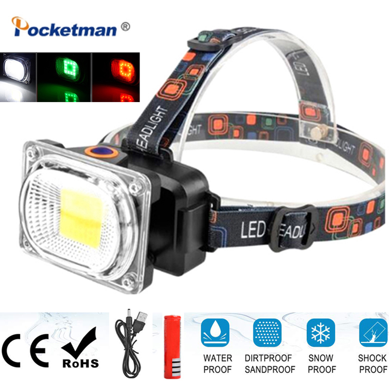 Free Shipping 2020 New Head Lamp Searchlight DC Charging Headlamp Camping Light Lantern Flashlight Head Torch By 1*18650 Battery
