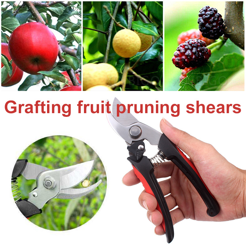 Gardening Scissors Pruning Shears Black Stainless Steel Tool Coarse Branch Shear Sharp Tree Yardman Flowers Durable Practical