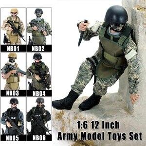"""Image 1 - 12 """"1/6 مجسم لعبة الجندي الطبي نموذج لعبة زي عسكري بدلة عسكرية قتالية نموذج جندي لعب مجموعة في الهواء الطلق للهدايا مع Ret"""
