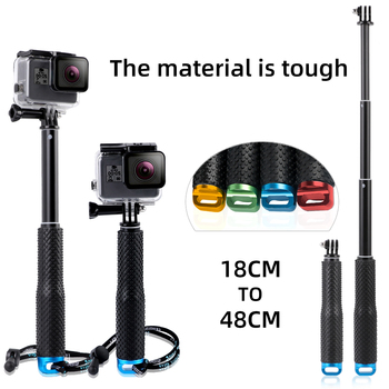 Light weight tripod 19 Inch Extendable Camera Selfie Stick Action Camera Handheld Monopod for Gopro HERO 9/8/7/6/5/4 for SJ4000