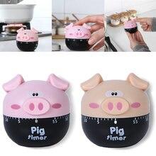 Пластиковый кухонный таймер с мультяшной Свинкой для приготовления