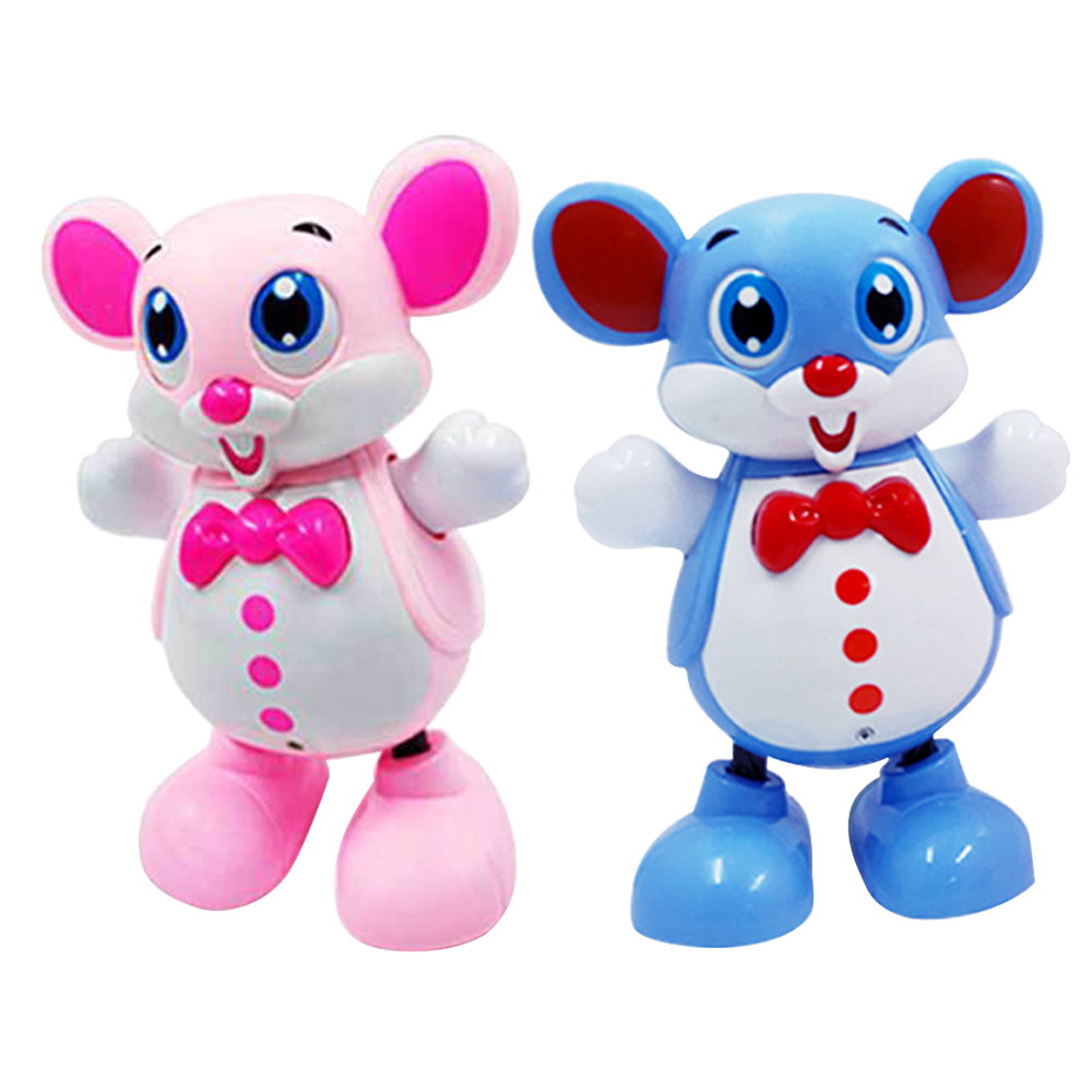 Lovely Mouse Electric Smart Dancing Robot For Children Kids Music Light Model Lights Music Dance Robot Toys For Kids