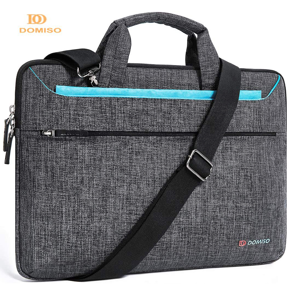Domiso Multi-use Fashion Laptop Sleeve With Handle Splashproof Shockproof  Notebook Computer Bag For 14