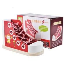 Галстук бабочка шнурки Игры Детские деревянные игрушки модели