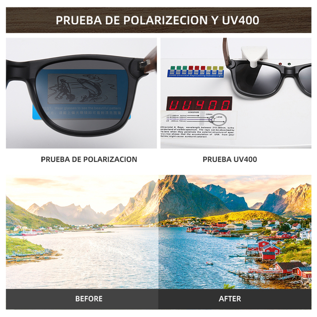 GM Environment-Friendly Retro Black Walnut Wood UV400 Polarized Bamboo Sunglasses Men's Fashion Trendy Anti Blue Lens S7061h 10