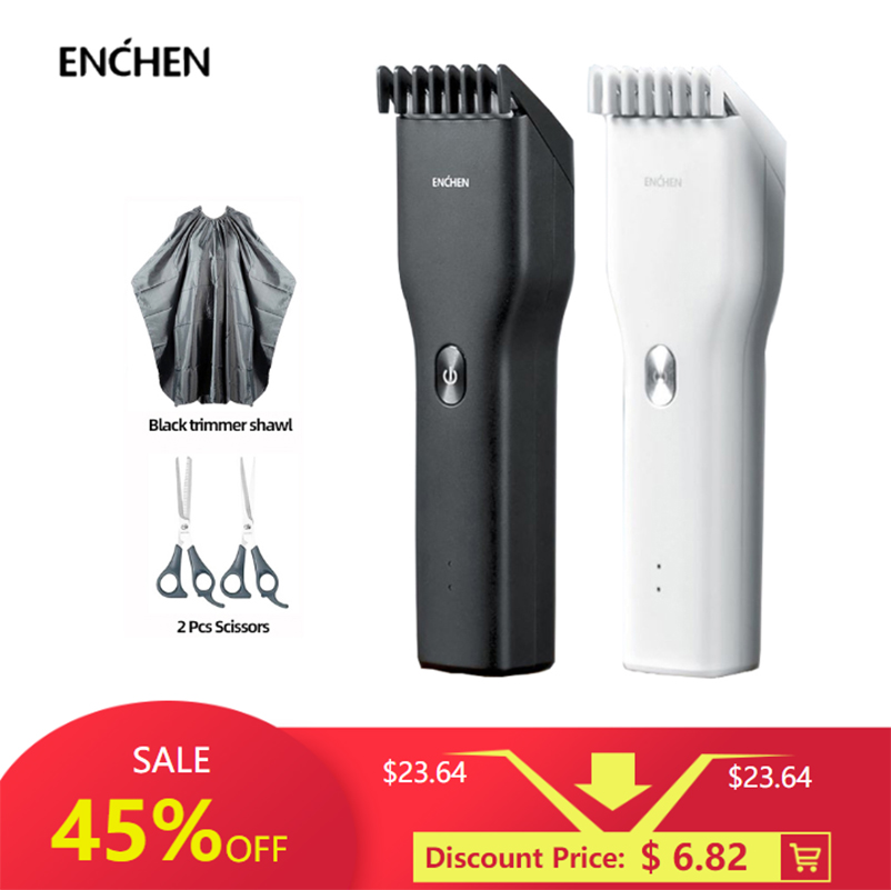 ENCHEN Boost USB Electric Hair Clipper Fast Charging Hair Trimmer For Men's Children Hair Clipper Two Speed Ceramic Cutter Hair