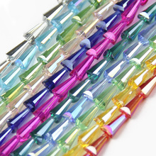 JHNBY Tower shape Upscale Austrian crystal beads conical loose beads glass ball 6*12mm 50pcs supply bracelet Jewelry Making DIY