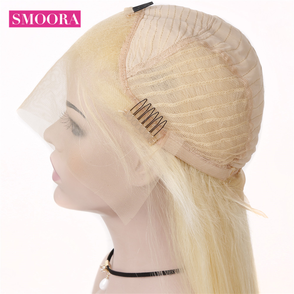 613 Blonde Bob Wigs Transparent 13x4 Lace Front Short  Bob Wigs  Straight  Hair 150% Density 16 inch 2