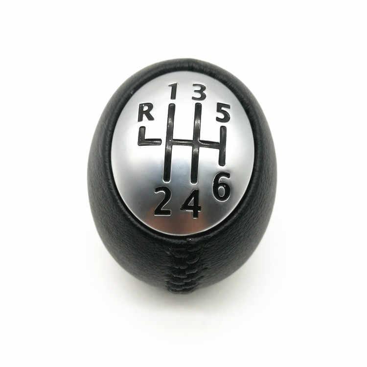 6 Kecepatan Knop Ganti Gigi Mobil Head Stick Gloss Matt Gear Shifter untuk RENAULT Laguna Megane 2 Clio 3 Indah 2