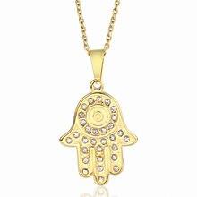 Подвеска Фатима ожерелья для женщин золотой цвет нержавеющая