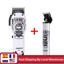 Barbeiro máquina de cortar cabelo profissional digital recarregável elétrica sem fio dos homens corte de cabelo ajustável elétrica