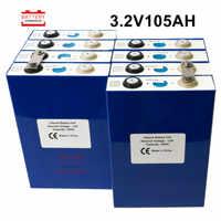 8 stücke 3,2 v lifepo4 batterie 3.2v100Ah 105Ah lithium-batterie Neue speicher förderung for12V 24V solar energie lagerung RV STEUER FREIES