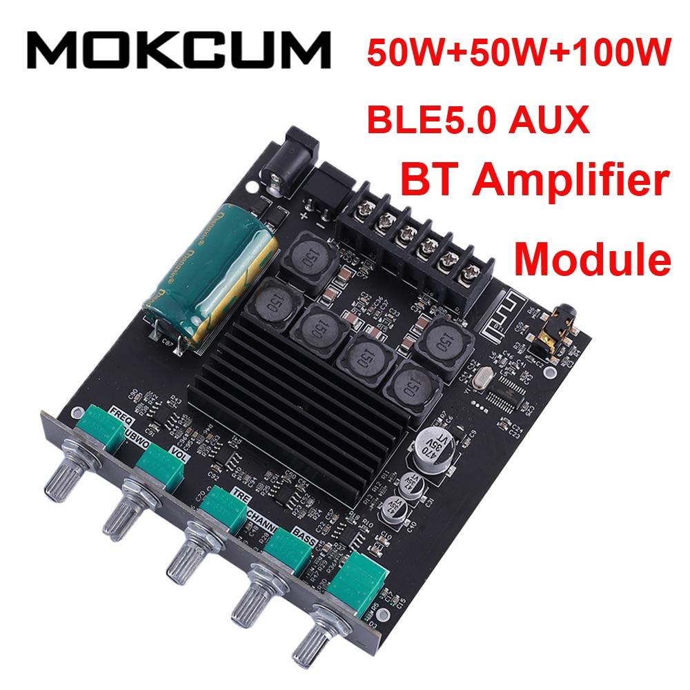 TPA3116D2 2.1 Subwoofer amplificateur Bluetooth Module Audio stéréo 50W + 50W + 100W BLE5.0 AUX aigus/basses amplificateur numérique réglable