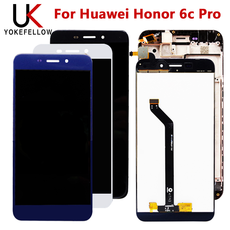 LCD For Huawei Honor 6c Pro LCD Display Touch Screen Digitizer Assembly Replacement Repair Part +Frame For Honor 6c Pro Display
