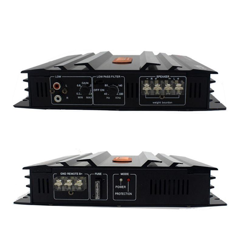 C-236 3800W 2 canales de Audio del coche 12V CC filtro de paso bajo Subwoofer - 3