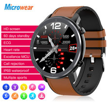 2020 nuovo Microwear L11 Smart Watch Touch Screen Tracker frequenza cardiaca ECG promemoria chiamate pressione sanguigna bluetooth IP68 Smartwatch