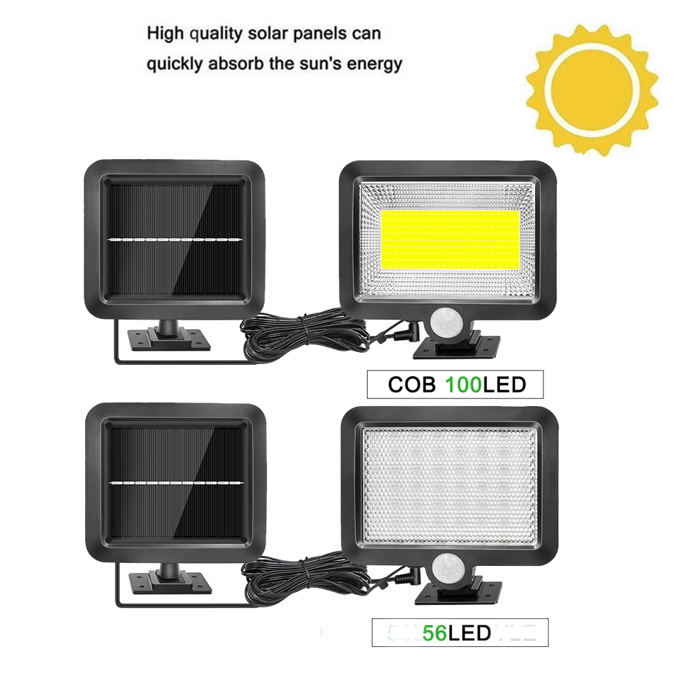 Newest 56/30 LED Solar Power Street Light PIR Motion Sensor Lamps Garden Security Lamp Outdoor Street Waterproof Wall Lights Spl