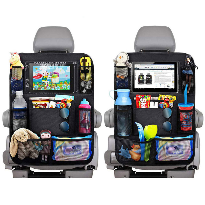 Car Backseat Organizer Universal Automobile Seat Back Storage Bag Stowing Tidying Box Multifunction Organizers Black