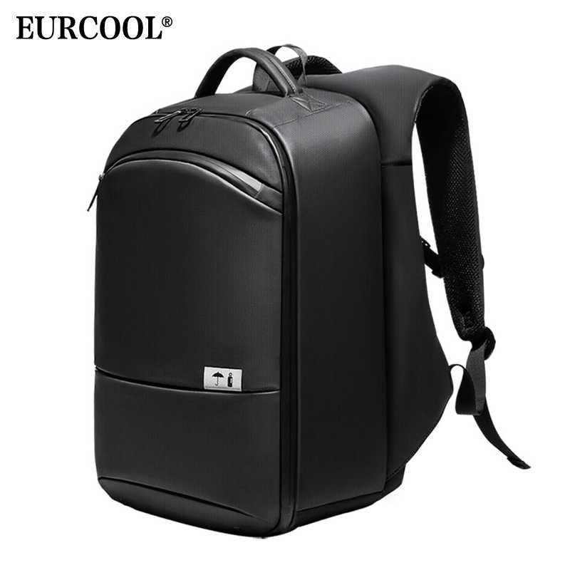 """EURCOOL multifunción mochila para ordenador portátil de 15,6 """"para hombres bolsa de escuela adolescente repelente al agua mochila de viaje de gran capacidad para hombre n1940"""