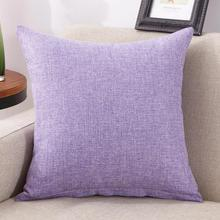 Funda de almohada sólida de lino y algodón Vintage para el hogar, funda de cojín sólida de 40x40 cm para decoración del hogar