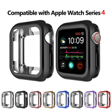 цена на silicone Slim Soft Case for Apple Watch Series 1 2 3 38MM 42MM Plating Protective Cover for iwatch Series 4 40MM 44MM