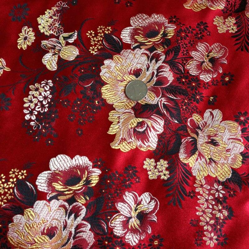 Damasco tradicional Satén Florales Almohada Cojín Ropa Tela De Cortina De Brocado