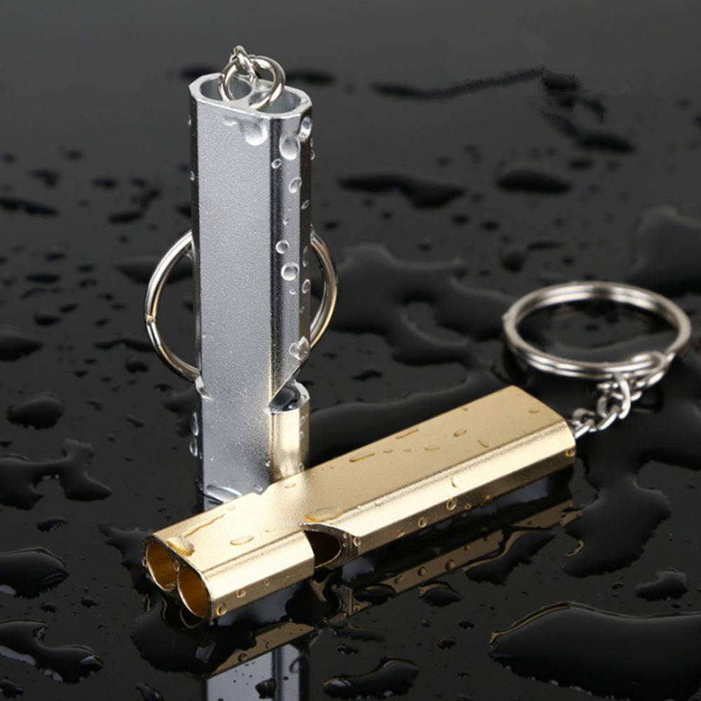 Emergency Survival Whistle Keychain Aluminum Alloy Outdoor Camping Hiking Accessory Tools