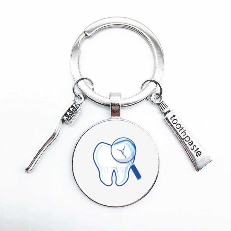 שיניים סגסוגת מפתח שרשרת מפתח טבעת, creative אופנה תליון רכב מפתח שרשרת ארנק מפתח טבעת, גברים ונשים מפתח שרשרת תליון