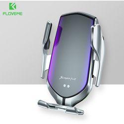 10W bezprzewodowa ładowarka uchwyt samochodowy telefon czujnik na podczerwień GPS uchwyt do otworu wentylacyjnego telefon samochodowy uchwyt automatyczny zacisk telefon ładowarka do ładowania na stojąco