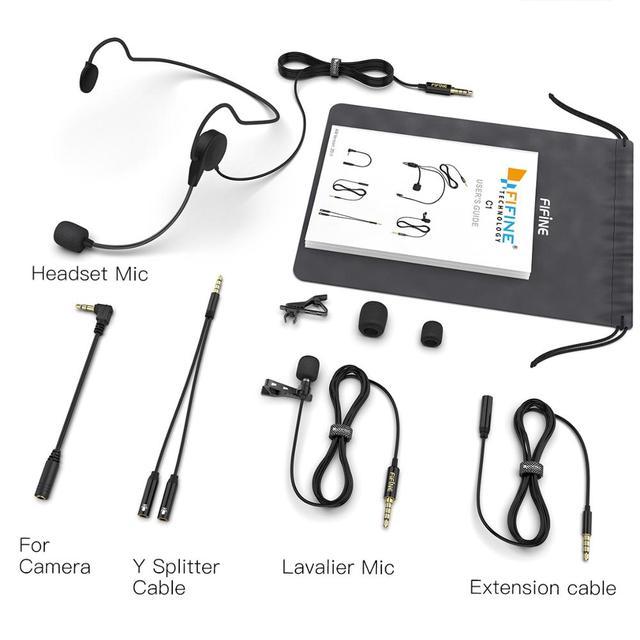Microfone de Lapela Fifine  para Câmera DSLR e Smartphones - Ideal para Entrevistas e Gravações de Videos.  5