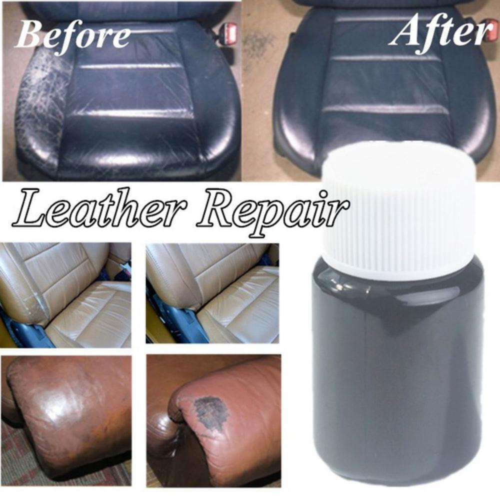 Hot Universal Leather Repair Tool 20ml Car Seat Sofa Coats Holes Scratch Cracks No Heat Liquid Leather Vinyl Repair Kit P