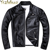 Azazel oryginalna skóra owcza kurtka mężczyźni odzież 2020 nowe prawdziwe skórzane kurtki motocyklowe Vintage Jaqueta De Couro ZL405 tanie tanio Jest (pochodzenie) STANDARD NONE Poliester Kieszenie Stałe REGULAR coat for men Szczupła Kożuch Na co dzień zipper Pełna