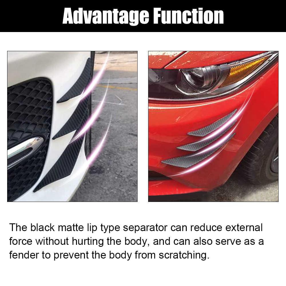 6 ピース/セット車フロントバンパーリップスプリッタフィンボディスポイラーキット自動車バンパーステッカー装飾アクセサリーアウディ 1.8 1.9 2.0 t