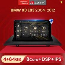 Rádio do carro de junsun v1 pro com reprodutor de vídeo multimídia da tela para bmw x3 e83 2004   2012 android carplay automático 2 din dvd