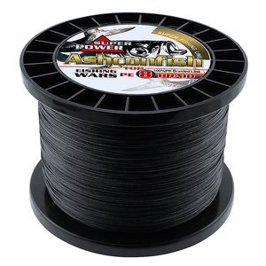Image 5 - Braided fishing line 8 strands 8 300LBS never faded black long line 1500M 2000M pe braided wires thread fishing takle online