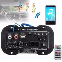 220V  Car Bluetooth Amplifier Digital Amplifier HiFi Bass Power AMP Stereo USB TF Remote Car Accessories