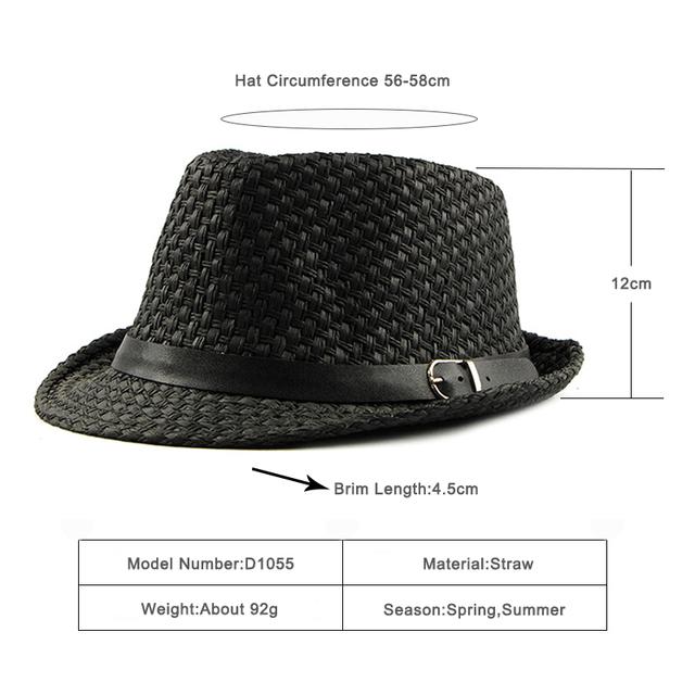 Sombrero de paja de primavera y verano transpirables