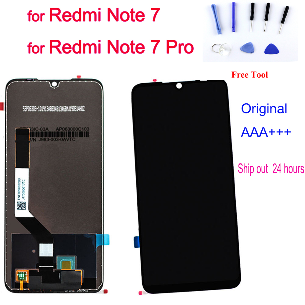 Original Display für <font><b>Xiaomi</b></font> Redmi Hinweis <font><b>7</b></font> <font><b>LCD</b></font> Display Touch Screen Digitizer Montage Rahmen Redmi Hinweis <font><b>7</b></font> Pro Ersetzen Freies werkzeuge image