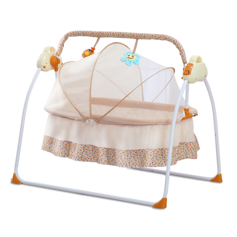 Baby Electric Rocking Chair Cradle Rocking Chair Sleep Basket Sleep Basket Intelligent Baby Work Piece Sleep Comfortable Chair