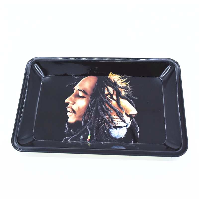 18*12.5CM Rolling Tray Bob Marley Rolling Papers Cigarette Smoke Accessories Tool Tobacco Storage Plate Discs For Herb Grinder