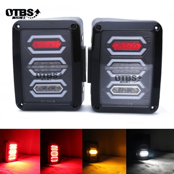LED Tail Lights For Jeep Wrangler Taillights Reverse Light Real Back Up Turn Signal Lamp For Jeep Wrangler JK 07-2017