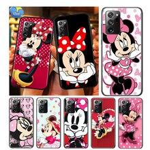 Red Minnie Mouse For Samsung Galaxy A01 A11 A12 A22 A21S A31 A41 A42 A51 A71 A32 A52 A72 A02S Soft Phone Case