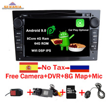 цена на Android 9.0 CAR GPS for Opel Vauxhall Astra H G J Vectra Antara Zafira Corsa Vivaro Meriva Veda Wifi Bluetooth RadioDVD PLAYER