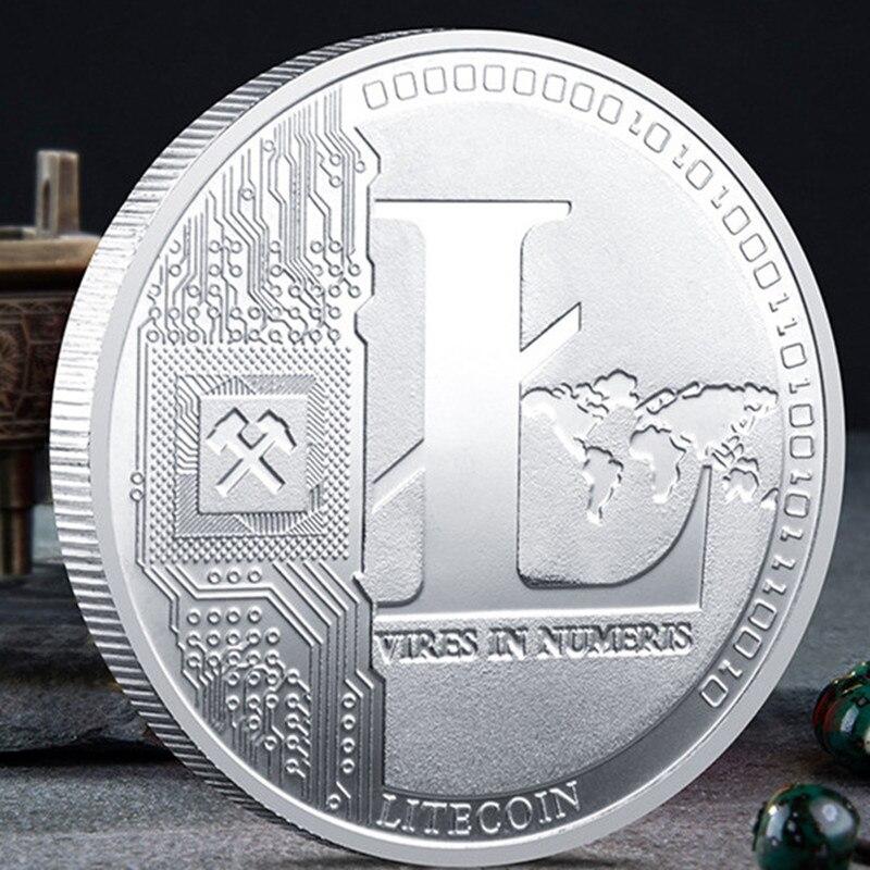 Creative Litecoin Coin Souvenir Silver Plated Collectible Great Gift Litecoin Art Collection Physical Commemorative Coin