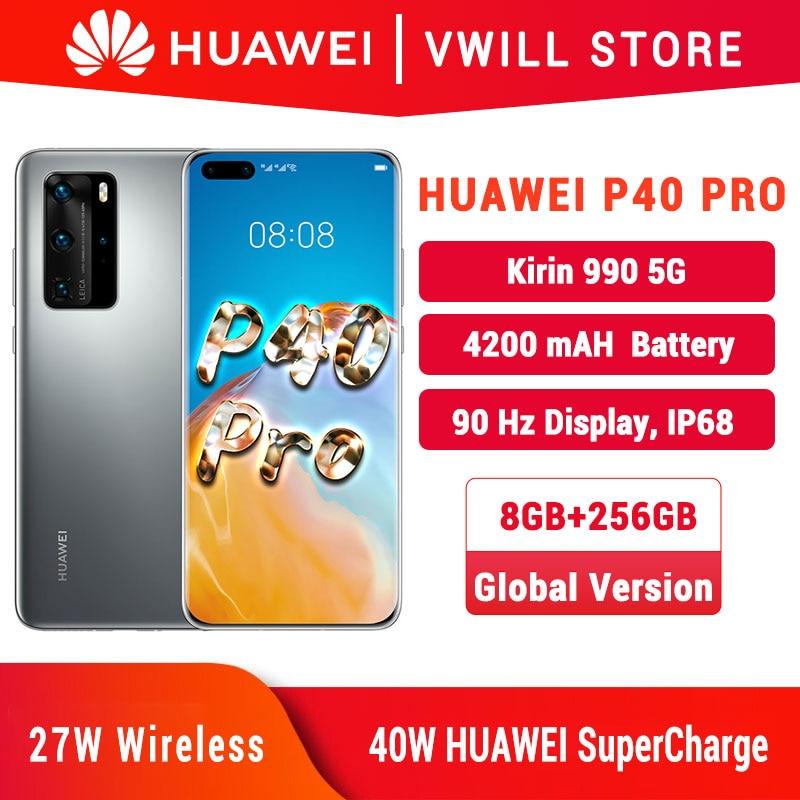 DHL Free Ship Global Version Huawei P40 Pro 5G MobilePhone 6.58 '' Kirin 990 8GB 256GB Bluetooth 5.1 Face unlock WiFi 6|Cellphones| - AliExpress