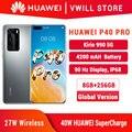 DHL бесплатная доставка, глобальная версия Huawei P40 Pro 5G мобильного телефона 6,58 ''Kirin 990 8 Гб 256 Bluetooth 5,1 с распознаванием лица Wi-Fi 6