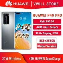 Dhl navio livre versão global huawei p40 pro 5g mobilephone 6.58 kirkirkirin 990 8gb 256 bluetooth 5.1 face desbloquear wifi 6