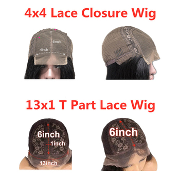 KUNGANG Highlight 4*4 lace closure wig Bob Human Hair Wigs Brazilian Front Wigs 150% Density With Baby Hair Non-Remy 5